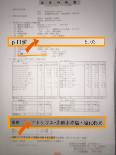 温泉分析書_泉質とpH
